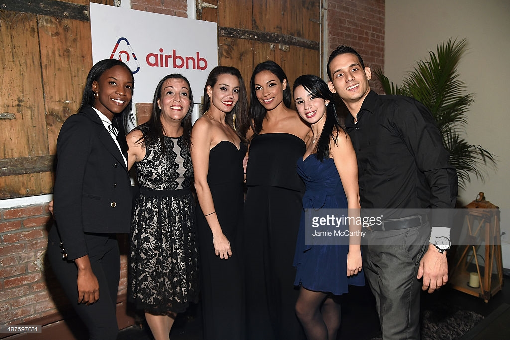 "Rosario Dawson hosts Airbnb's ""An Evening in Havana,"" celebrating the upcoming one year anniversary of restored US-Cuba relations, on November 17, 2015 in New York City."